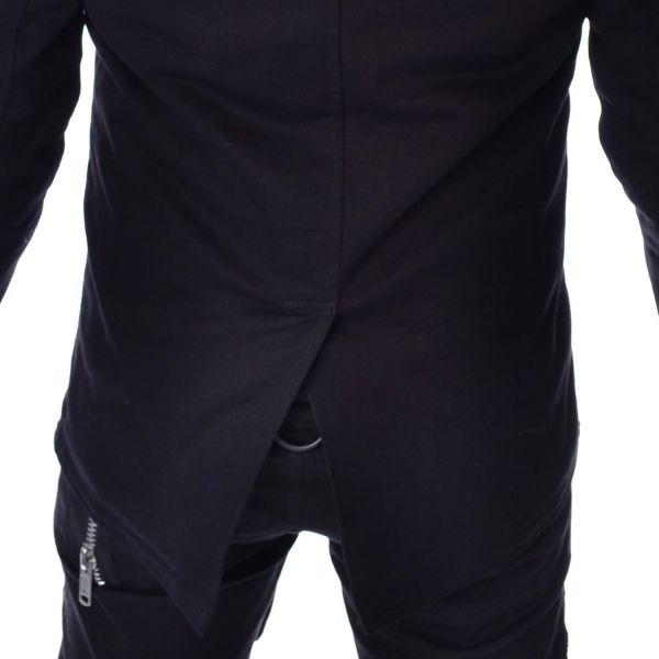 Asymmetrische Jacke im Frack Style mit Daumenlöchern