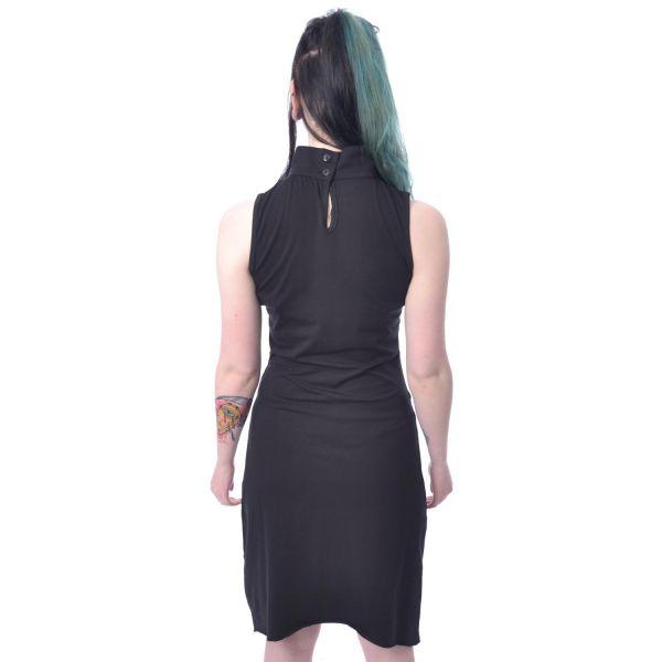 Asymmetrisches Shirtkleid mit Netz Sichelmond