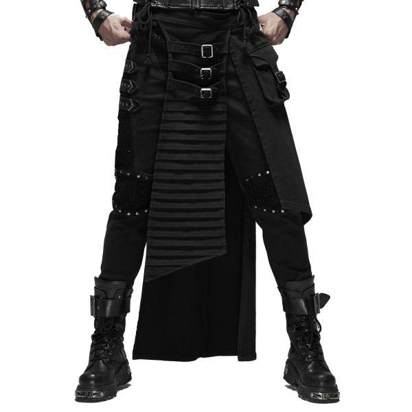 Punk Schürzenrock im Warrior Style mit Tasche