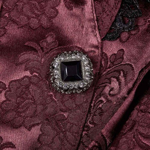 Viktorianischer roter Mantel im Jacquard Design