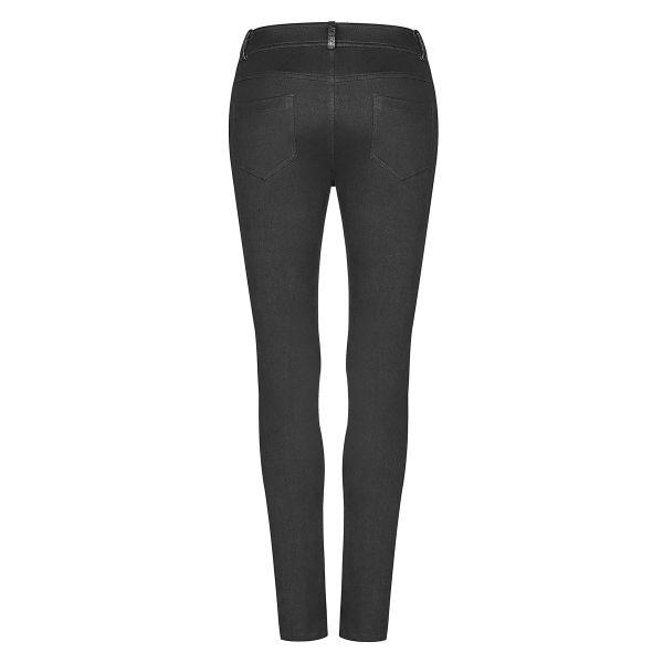 Industrial Skinny Hose mit sexy Cut-Outs und Schnürung
