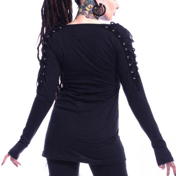 Gothic Style Pullover mit Schnürungen und Totenschädel
