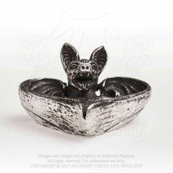 Fledermaus Schmuck Schale Alchemy Vampir Tischdeko Herz