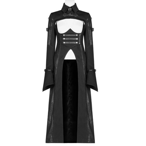 Mantel im Uniform Style mit brustfreiem Dekollete