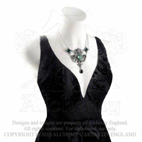 Halskette mit Swarovski Kristallen - Queen of the Night