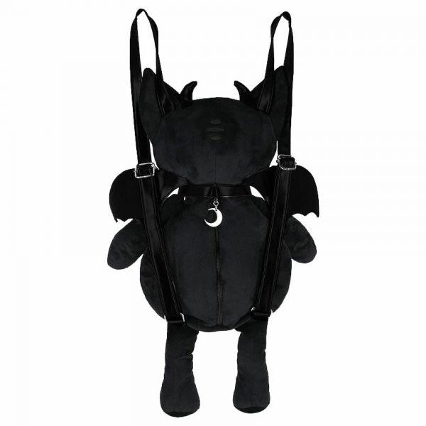 Green Eye Devil Cat Plüsch Rucksack und Maskottchen
