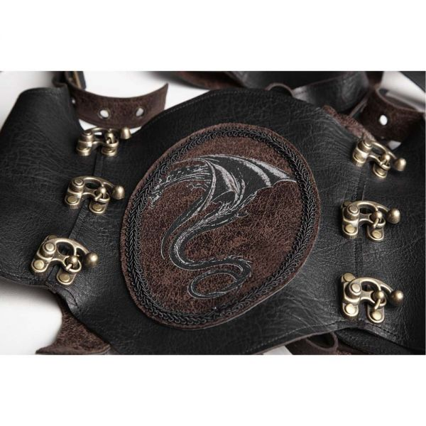 Steampunk Harness Drachenornament Unterbrust Corsage