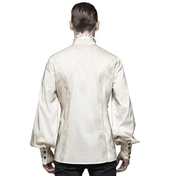 Steampunk Hemd im Ombre Grunge Look mit Zierfalten