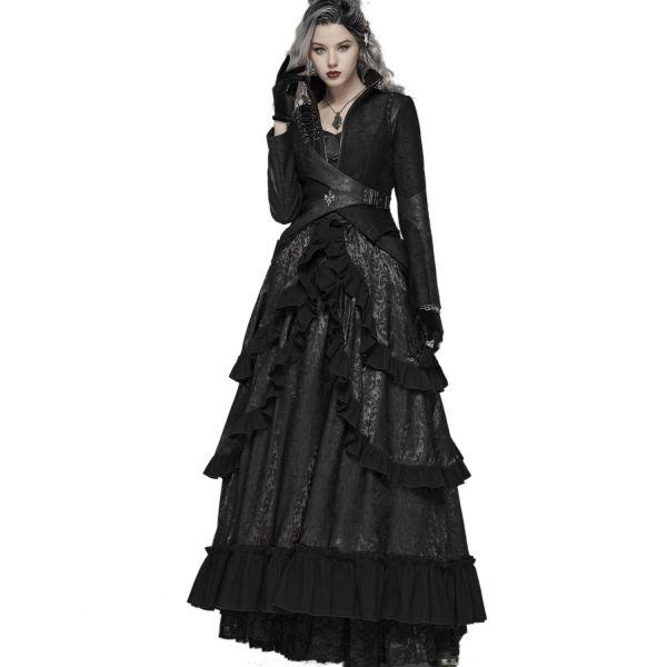 Corsagen Rüschenkleid im Steampunk Saloon Girl Look