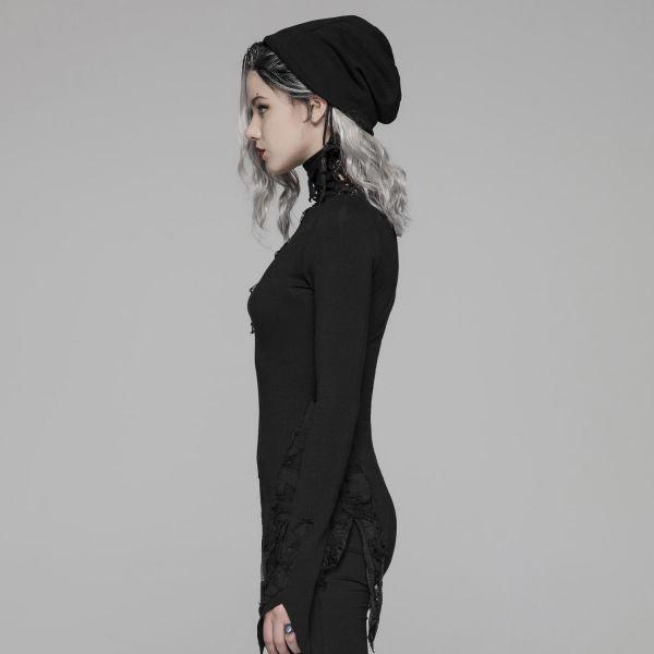 Post Apocalyptic Rollkragen Shirt im Zipfel Look