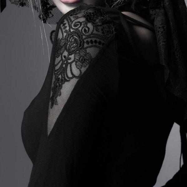 Daily Goth Fledermauskleid mit Trompetenärmeln