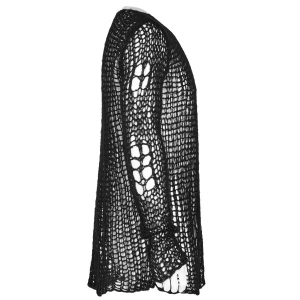 Heavy Destroyed Pullover mit Laufmaschen