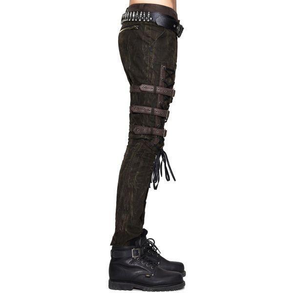 Post Apocalyptic Warrior Hose mit Schnallen im Grunge Style