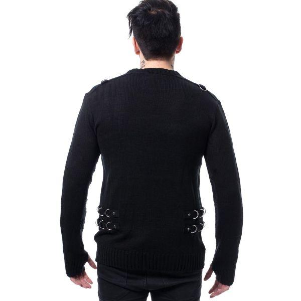 Feinstrick Pullover im Gothic Style mit Daumenlöchern