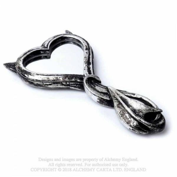 Handspiegel in antiker Optik - Devils Heart