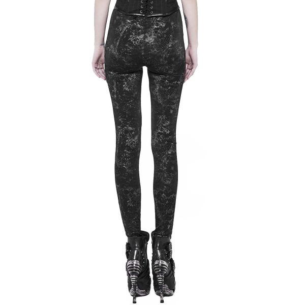 Punk Rave Leggings mit Zugband im Camouflage Look