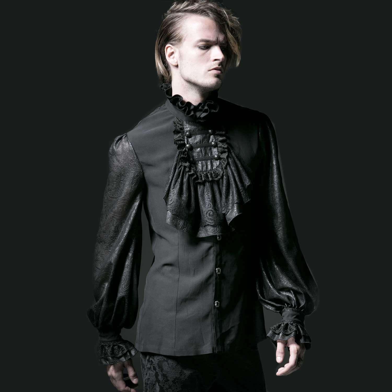Vampyr Shirt Rüschenhemd schwarz