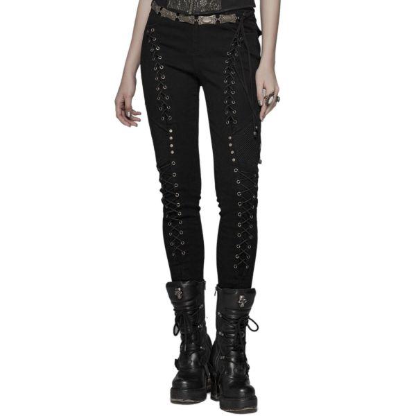 Skinny Steampunk Hose mit Schnürung
